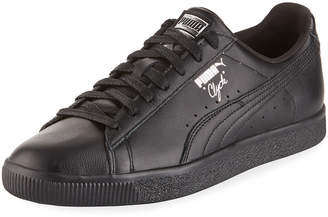 Puma Men's Clyde Premium Core Leather Sneakers, Black