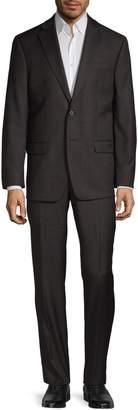 Calvin Klein Plaid Wool-Blend Suit