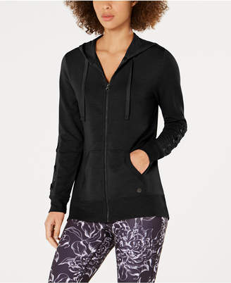Macy's Ideology Lace-Up Sleeve Zip Hoodie, Created for