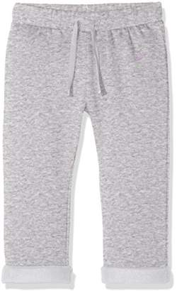 Benetton Girl's Trousers Cotton Blend (Grey 501), (Size: Medium)