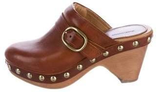 Isabel Marant Leather Platform Clogs