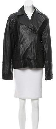 Adeam Woven Leather Jacket