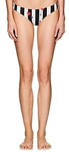 Solid & Striped Women's Elle Cherry Striped Bikini Bottom-Black, White cherries