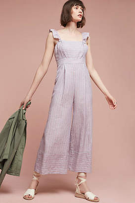 Elevenses Nantucket Ruffled Jumpsuit $148 thestylecure.com