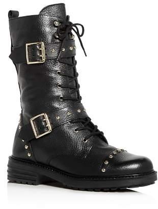 Kurt Geiger Women's Sting Cap-Toe Moto Boots