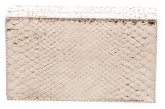 Nancy Gonzalez Metallic Snakeskin Clutch