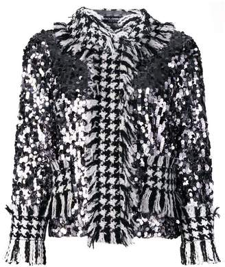 Dolce & Gabbana sequinned tweed jacket