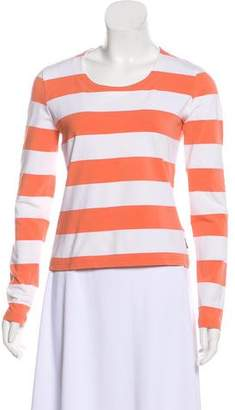 Burberry Striped Long-Sleeve Top