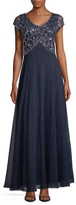 J Kara Bead Bodice Jersey Gown