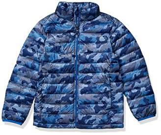 Amazon Essentials Toddler Boy's Lightweight Water-Resistant Packable Puffer Jacket