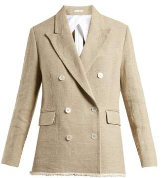 Golden Goose Virna Double Breasted Canvas Jacket - Womens - Beige