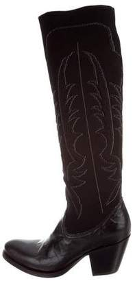 Rocco P. Embroidered Knee-High Boots w/ Tags