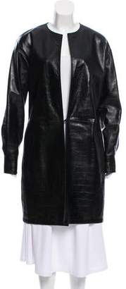 Saint Laurent Embossed Leather Coat