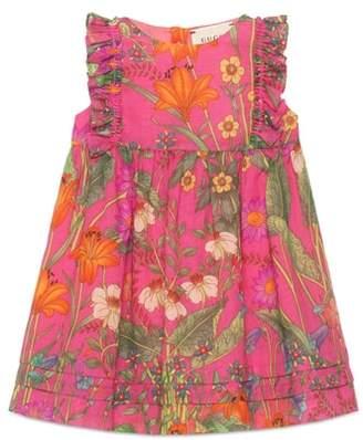 Gucci Floral Print Sleeveless Dress