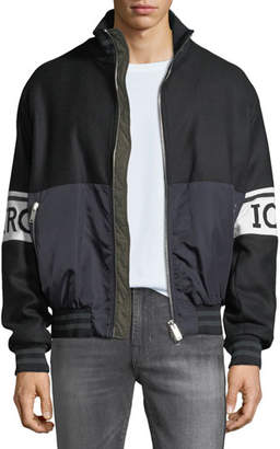 Iceberg Men's Logo Typographic Band Sport Jacket