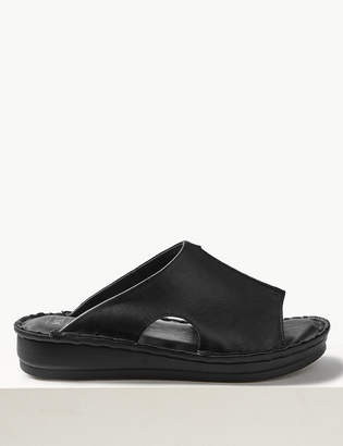 Pixi M&S CollectionMarks and Spencer Leather Flatform Seamed Sliders