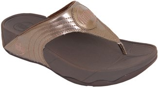 FitFlop WalkStar lll - Thong Sandal in Bronze Leather