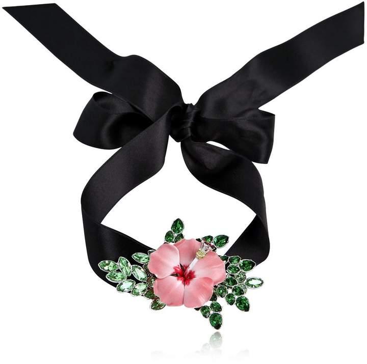 Halsband Aus Satin Mit Blumendetail