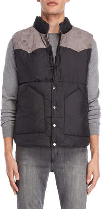 American Stitch Color Block Quilted Vest