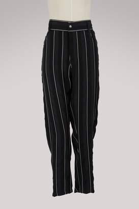 Haider Ackermann Baggy striped trousers