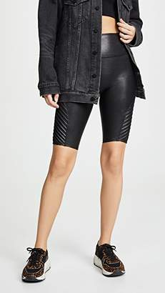 Spanx Faux Leather Moto Bike Shorts
