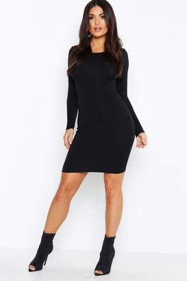boohoo Long Sleeve Bodycon Midi Dress