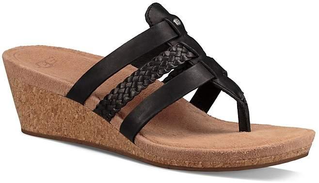 UGGUGG® Maddie Cork Wedge Leather Sandals