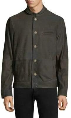 John Varvatos Classic Slim-Fit Leather Jacket