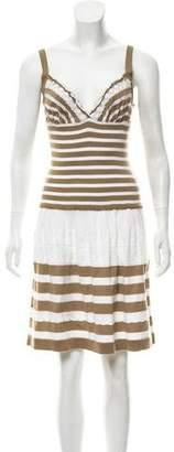 Philosophy di Alberta Ferretti Knit Lace-Trimmed Dress