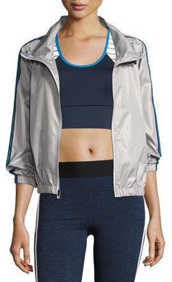 Heroine Sport Racing Wind-Resistant Athletic Jacket, Silver $225 thestylecure.com