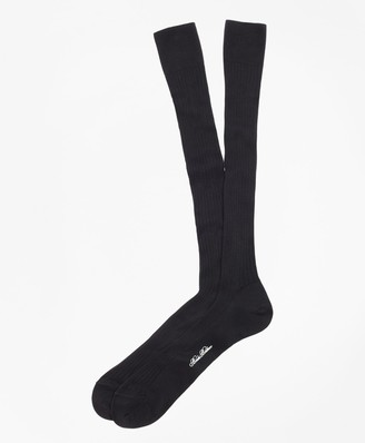 Brooks Brothers Pima Sized Over-the-Calf Socks