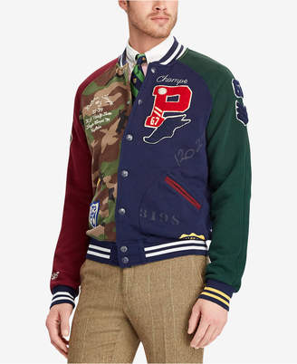 Polo Ralph Lauren Men's Patchwork Baseball Jacket