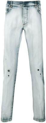 Balmain bleached distressed jeans