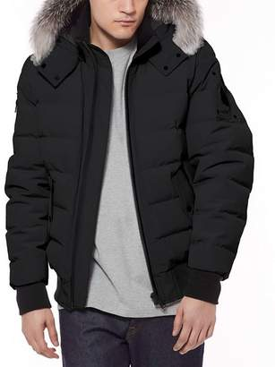 Moose Knuckles Glace Bay Fur-Trimmed Down Bomber Jacket