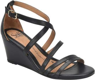 Sofft Leather Wedge Sandals - Mecina