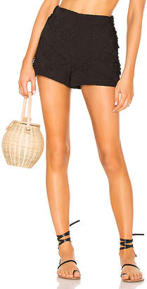 LPA High Waist Short With Side Ruffles