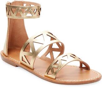 Soludos Cut-Out Metallic Strap Sandal