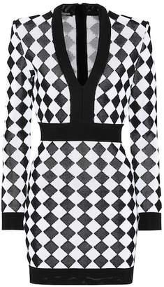 Balmain Jacquard knit dress