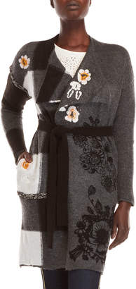 Desigual Ani Embroidered Belted Duster