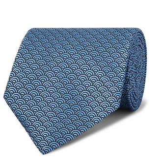 Ermenegildo Zegna 8cm Silk-Jacquard Tie - Men - Blue