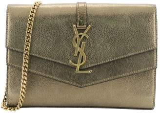 Saint Laurent Sulpice Gold Leather Handbags