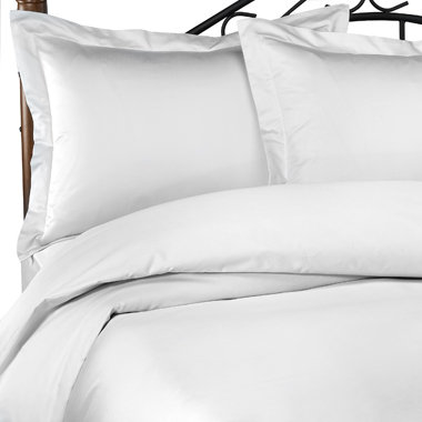 Hotel White Duvet Covers and Shams, 100% Cotton, 620 Thread Count