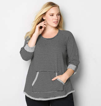 Avenue Stripe Pullover with Pouch