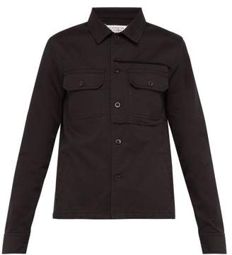 Maison Margiela Cotton Twill Utility Jacket - Mens - Black
