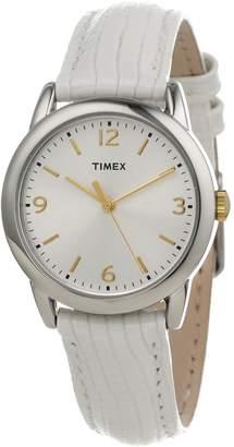 Timex Women's T2P1202M Metallic Lizard Patterned Leather Strap Watch