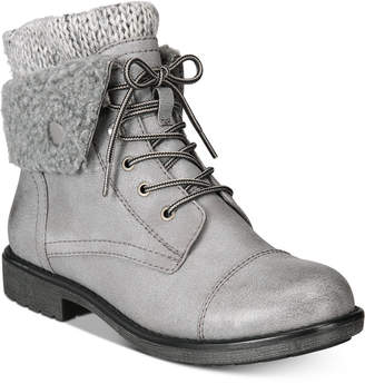 White Mountain Cliffs by Decker Lace-Up Booties, Created for Macy's Women's Shoes