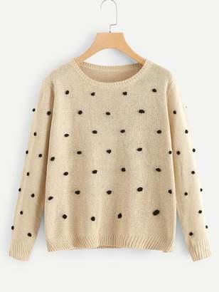 Shein Pom Pom Detail Sweater