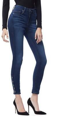 Good American Good Legs Crop Snap Hem   Blue155