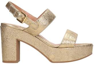 L'Autre Chose Lautre Chose LAutre Chose Gold Laminated Leather Sandals