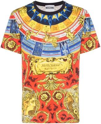 5a44de6dfd0c Moschino Roman scarf-print T-shirt